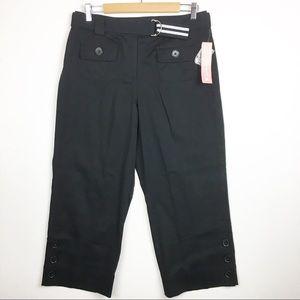 New Dress Barn Cotton Stretch Black Capri Pants